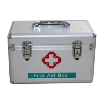 Emergency Home First Aid Kit with supplies Set Bags Box Travel Waterproof Alloy first aid box