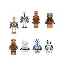 800 ชิ้น LELE C032 C039 ทั่วไป grievous Stormtrooper Legion Clone Trooper First ORDER Snow Trooper จีน legoing