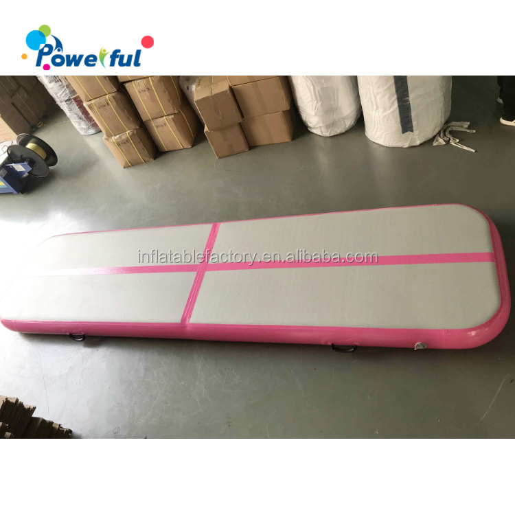 Girl gift inflatable pink airtrack 4m cheap training air tracks