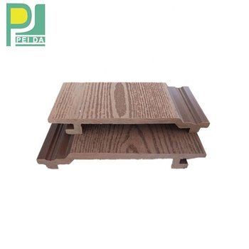 Owes Cheap Price Outdoor PVC Wall Panels Exterior Cladding With Woodgrain Surface
