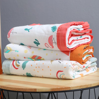 Wholesale newborn baby soft bamboo cotton swaddle blanket four layer for baby boys and girls