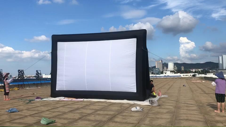 Layar Film Tiup Luar Ruangan Layar Tiup Besar untuk Bioskop Berkendara
