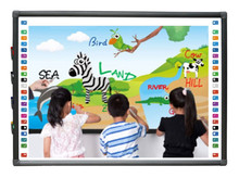 "70 ""<span class=keywords><strong>keramische</strong></span> <span class=keywords><strong>Interactieve</strong></span> <span class=keywords><strong>Whiteboard</strong></span>/Infrarood Multi touch Smart white board 82"" ~ 104 ""aangepaste grootte"
