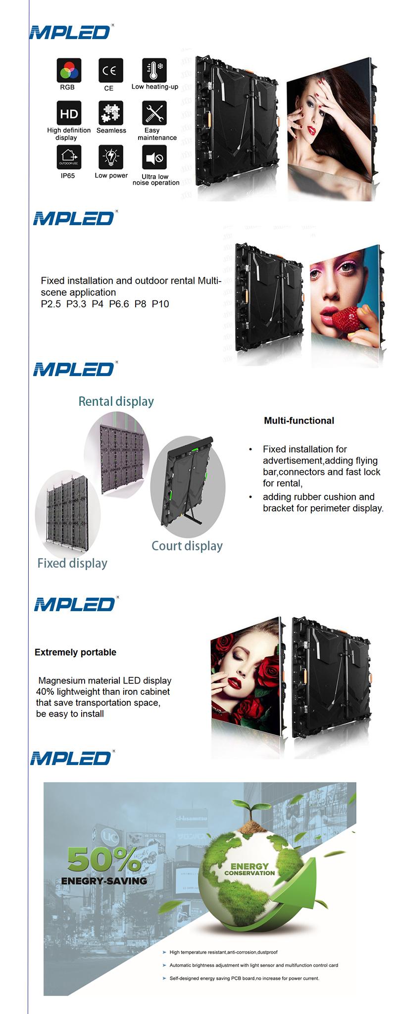 P6 P8 P10 açık tam renkli SMD rgb reklam LED ekran