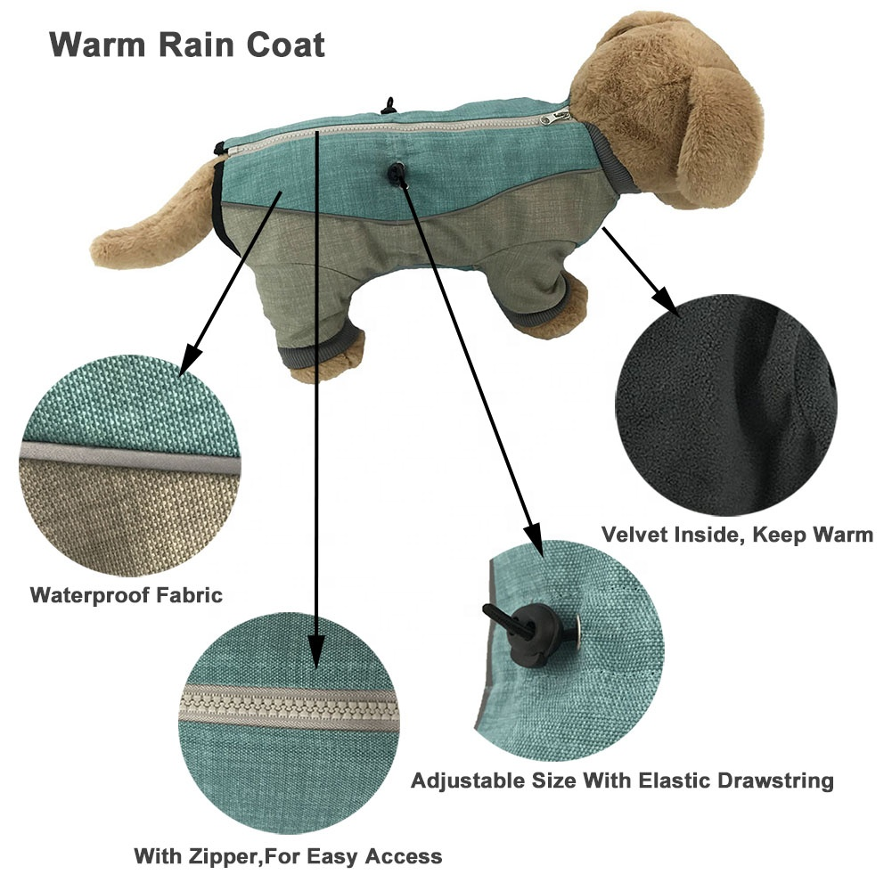Waterproof Dog Raincoat Pets Accessories Dog Outfits Pet Clothes