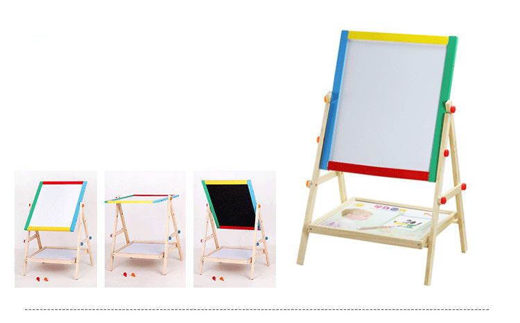 2 in 1 Standing Adjustable Reusable Magnetic Learning Drawing Board or Pad for Baby