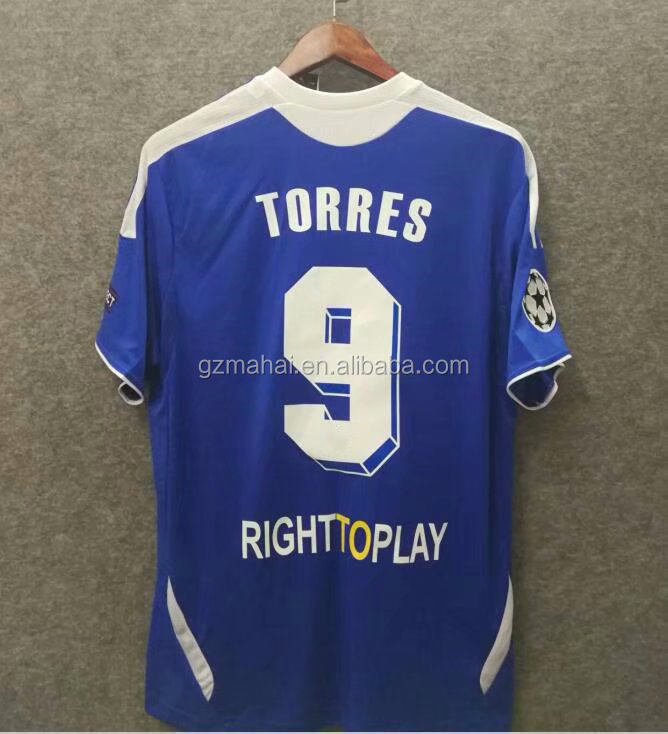 drogba Retro football jersey 2011 2012 torres wholesale vintage soccer shirt custom free shipping