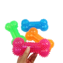 Pet Giocattolo di Masticazione Del <span class=keywords><strong>Cane</strong></span> Palla Spike Squeaky Toy Set