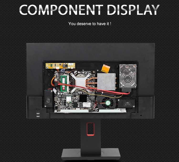 Oem caso estande all in one pc desktop do computador ajustável