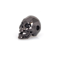 2019 Trending product wholesale antique silver spacer charm for bracelet big hole beads skull metal beads