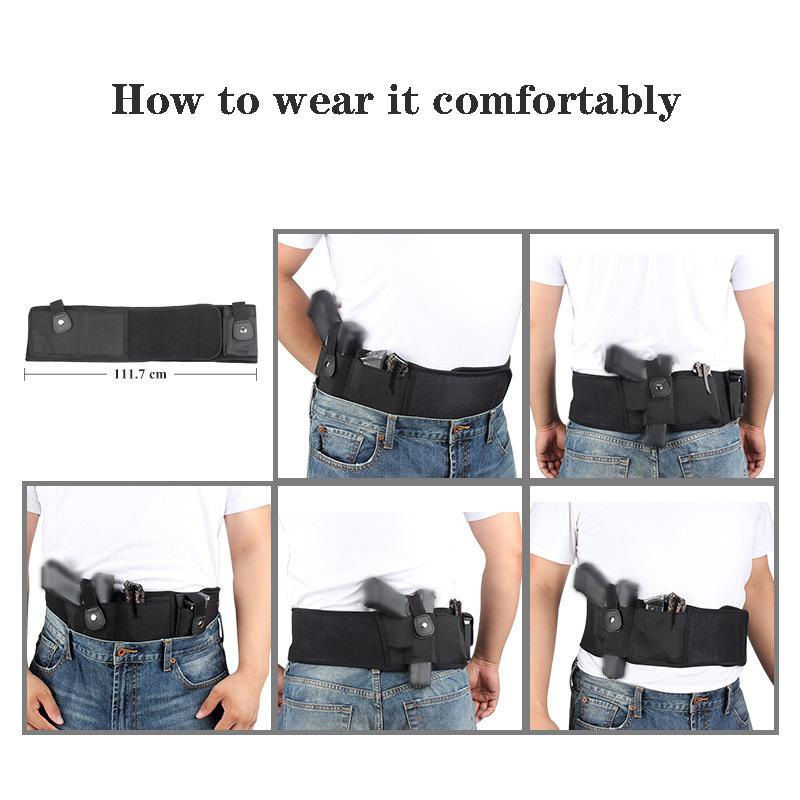 Manufacturer Custom Tactical Military Gun Holster Concealed Carry Elastic Waistband Bag Pistol Holster Men Adults