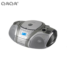 OM-6991 CD/MP3 Cassette <span class=keywords><strong>BOOMBOX</strong></span> Home Audio Radio, Hitam dengan AUX