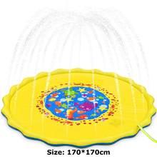 Летняя наружная подушка для распыления воды, ПВХ надувные игрушки для воды для детей, игровой коврик для воды, игры, пляжные лужайки, разбрыз...(Китай)