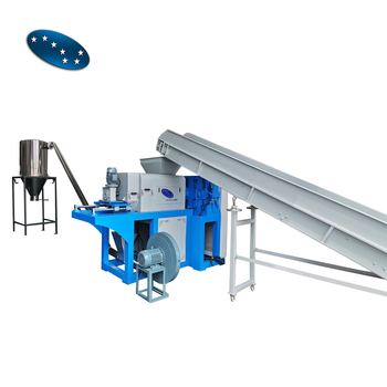 plastic ldpe film squeezer dewatering machine for recycling