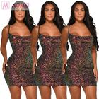 M2232 lowest price suspender micro short colorful sequins Sexy New Fashioned Ladies Club Dress