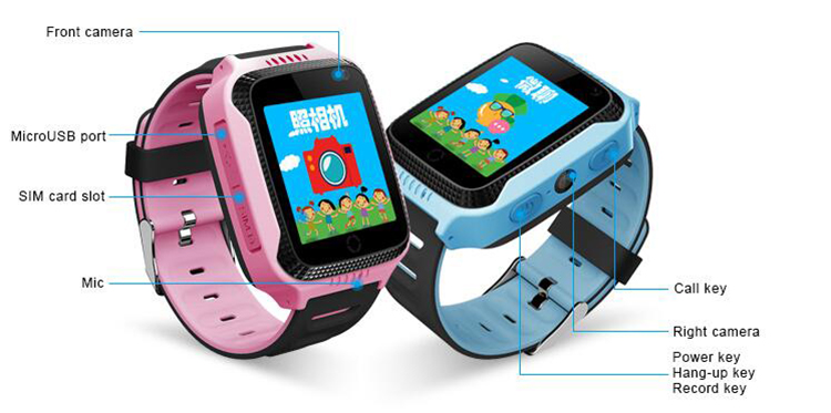 Customized Android 3G Smart Watches GPS for kids children with phone call fitness wifi torch light