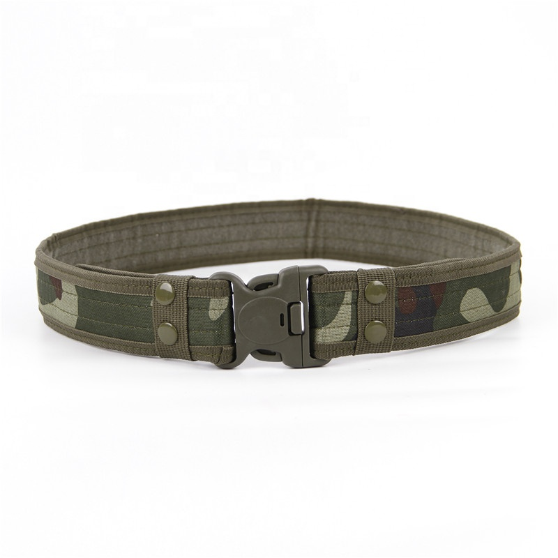 2020 hot selling high quality outdoor adjustable tactical belt customized waterproof oxford duty belt with 5cm width for men