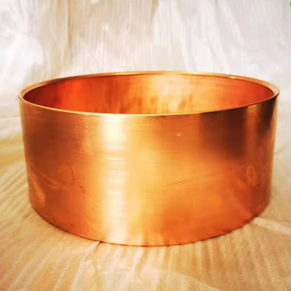 14x5 inches hammered  copper snare drum body/ chamber/ shells