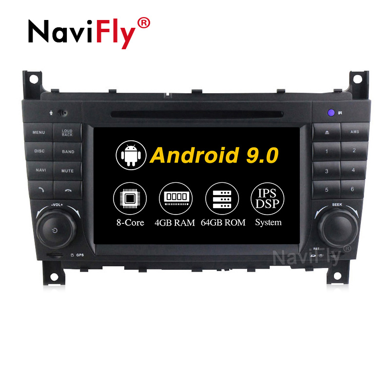NaviFly 7'' Android 9.0 Octa core 4+64GB car video car dvd palyer For Benz C Class W203/AMG C55 /AMG C63/CLK Class W209