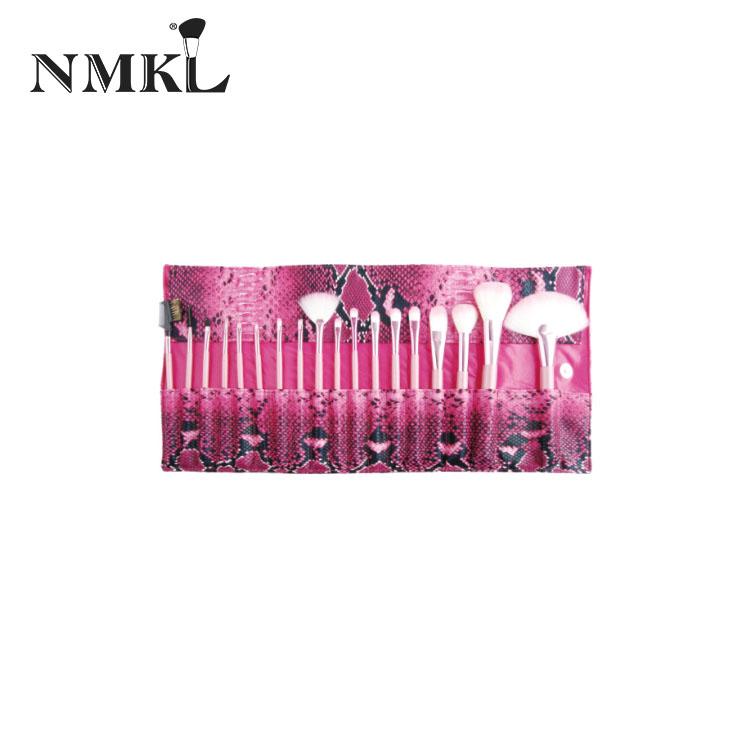 Kısa saplı fırçalar çift uçlu unicorn seçin dudak tozu hayvan saç makyaj seti metal kozmetik fırça