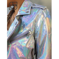 hologram leather garment material synthetic glitter leather textiles & leather products