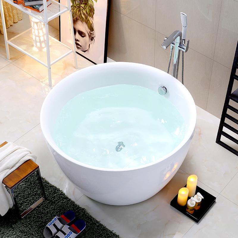 Bain japonais 1 personne profonde surface solide baignoire avec siège baignoire freestand