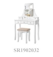 आधुनिक फैंसी घर लकड़ी घरेलू लकड़ी के ड्रेसिंग टेबल सेट बेडरूम फर्नीचर
