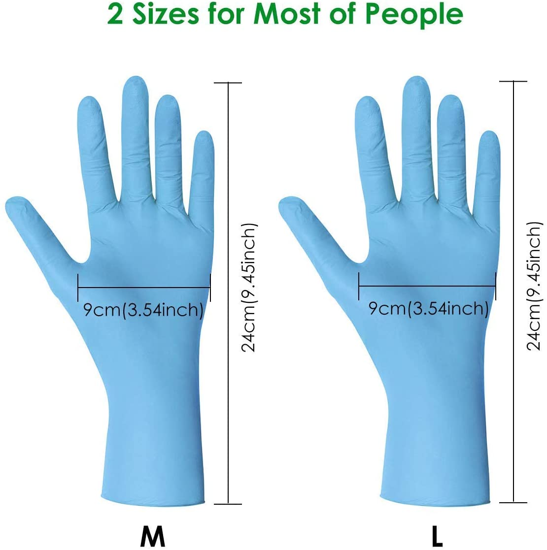 Factory direct gloves nitrile powder free working manufacter high performance