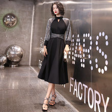 Платье для выпускного вечера It's Yiiya AR318 Rrom, длинные элегантные платья, черные открытые вечерние платья с круглым вырезом, Vestidos De Fiesta A Line(Китай)