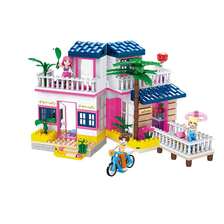 COGO BS de plástico Casa de plástico bloques de construcción de 360 piezas de construcción creativa juguetes para niñas