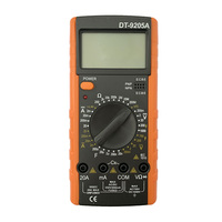 Low price China TOP 10 CE Electrical DT9205A price of bd Manuel AVO DMM Multitest Multi meter DT9205 digital multimeter