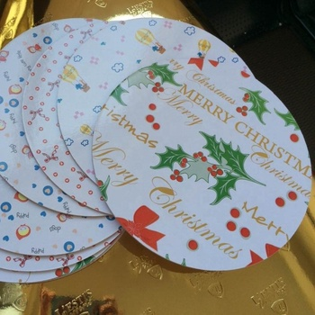 Customize design cake board Merry Christmas  Board die cut edge