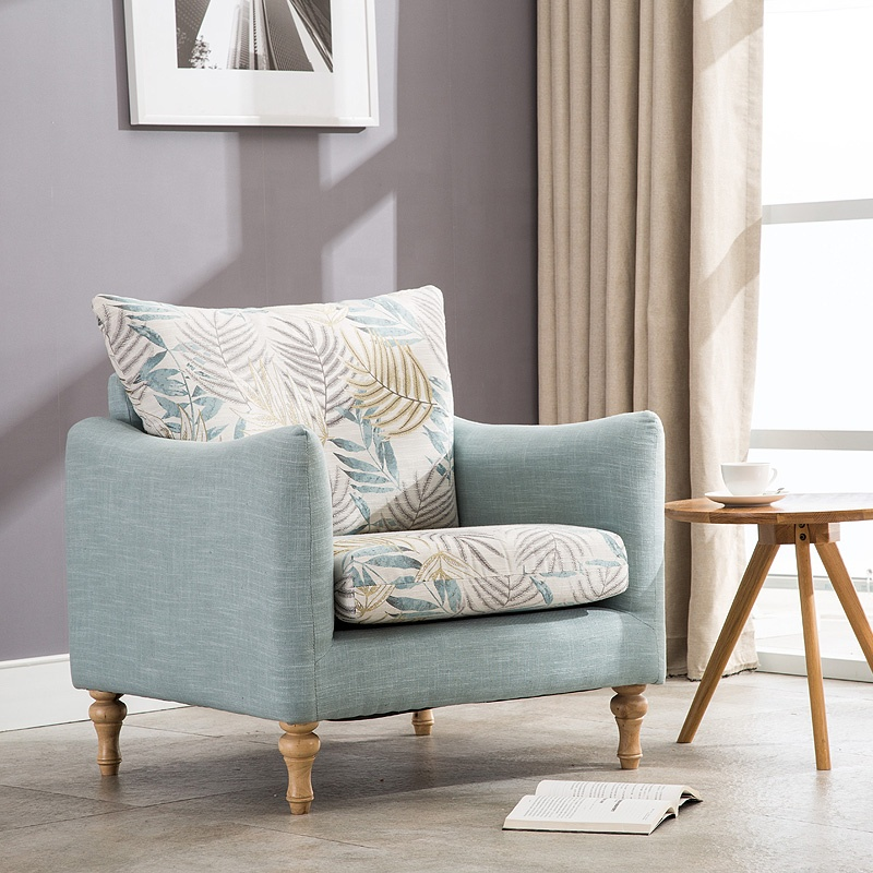 Removable Cover Fabric Modern Armchair for Living Room