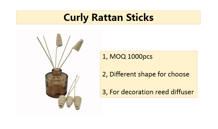 Indonesia rattan good absorption curly reed diffuser
