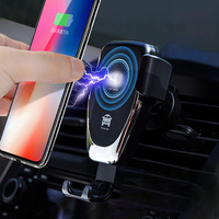 2020 New Product Car Charger Wireless Auto Charging Automatic Clamping Dashboard Qc2.0/3.0 Adapter For Iphone Car Charger Holder