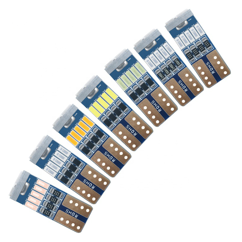 New T10 W5w 2835 8 Smd For Auto Wedge Light Width Lamp Door Parking Bulb License Plate White Blue Dc 12v