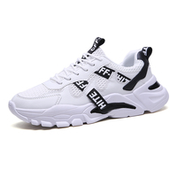 Custom Men's Fashion Shoes Sneakers, Flats Sepatu School Shoes 2019 Wholesales Casual Sneakers Tenis White Sports Men Shoes