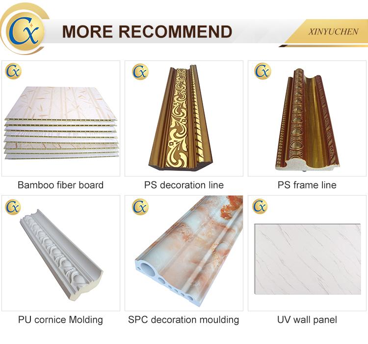 PU Plain Cornices Mouldings, Ceiling decoration lines home decoration materials