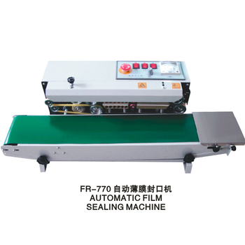 horizontal or vertical continuous band sealer sealing machine for bag with solid ink coding