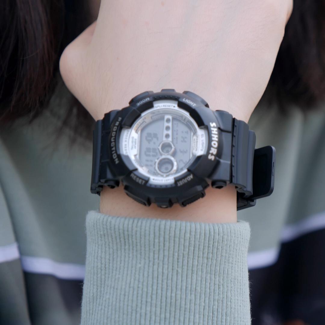 SHHORS Watch 810CK Digital Alarm Chronograph Wristwatch Cute Electronic Watches for Sport