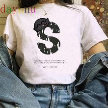 """""""South Side Serpents"""" ривердейл смешные футболки с рисунками из мультфильмов футболка для женщин Harajuku Змея футболка с рисунком на рост от 90s модная фу...(China)"""