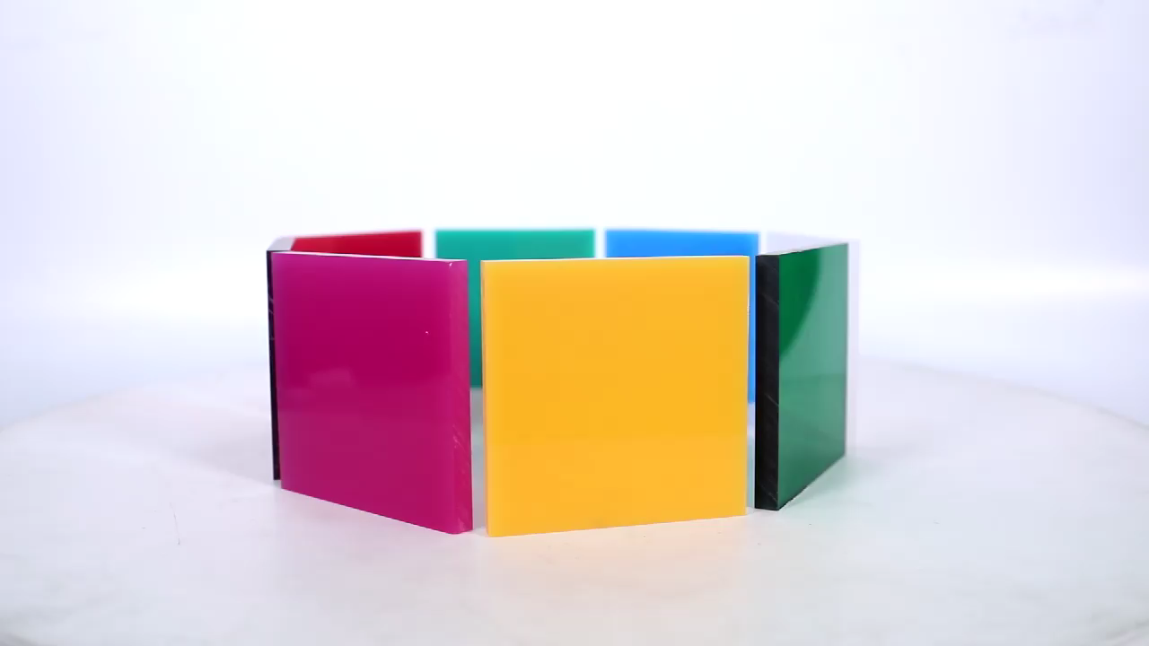 YAGELI new arrival 100% new material cast and extruded fluorescent acrylic plastic sheet pmma sheet for decoration