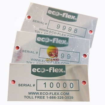 Rotary engraved hot selling OEM custom design waterproof chemical rectangle stainless steel labels with strong adhesive