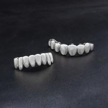 Мужские колпачки для зубов в стиле панк, золотого, серебряного цвета, с верхним дном, в стиле хип-хоп(Китай)