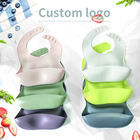 Hot Sale Waterproof Silicone Bib Silicone Baby Bibs for Babies and Toddlers