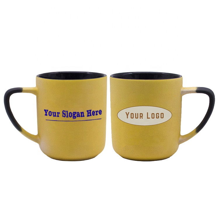 600ml large custom magic logo slogan design heat reactive ceramic color changing cup