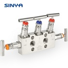 Stainless steel Five 5 Valve Manifolds Different Pressure Transmitter DPT Direct Mounting Flange 1/2 NPT 6000 PSI