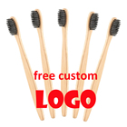 free custom logo bamboo handle colorful soft bristles bamboo toothbrush