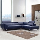 comfortable and nice foshan heated leather sofa living room furniture
