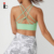 New Fashion Womens Eco Friendly Mint Gym Strappy Fitness Sports Bra